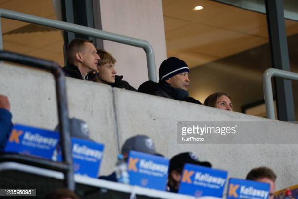 Eddie Jones is pictured at Kingston Park during the Gallagher Premiership match between Newcastle Falcons and Bristol at Kingston Park, Newcastle on...