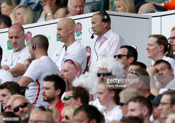 Eddie Jones of England during the Quilter Cup match between England and Barbarians at Twickenham Stadium on May 27 2018 in London England