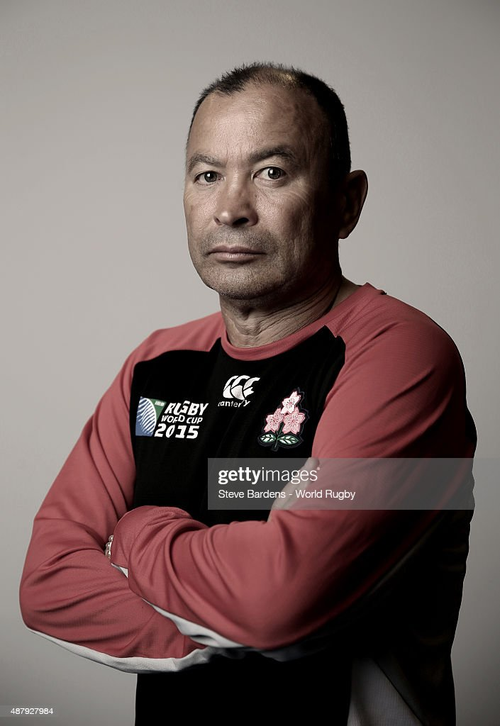 Eddie Jones of Japan poses for a portrait during the Japan Rugby World Cup 2015 squad photo call in Brighton on September 12, 2015. Photo by Steve Bardens - World Rugby/World Rugby via Getty Images)