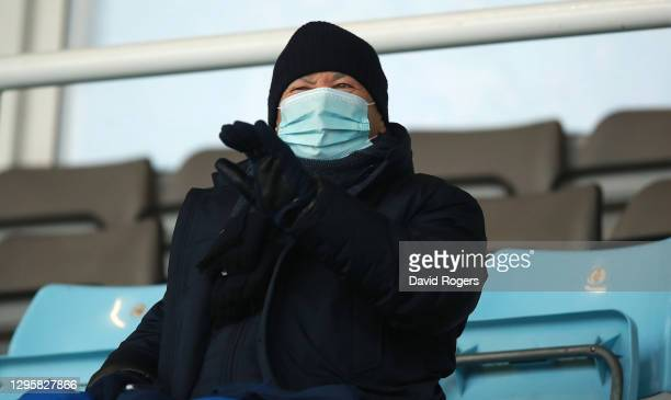 Eddie Jones, the England head coach, looks on during the Gallagher Premiership Rugby match between Harlequins and London Irish at Twickenham Stoop on...