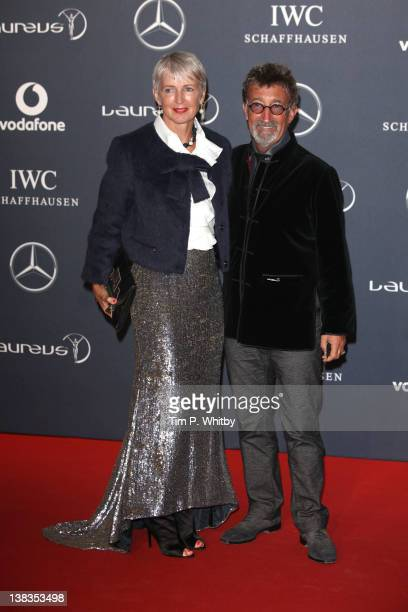 Eddie Jordan and Marie Jordan arrive at the Laureus World Sports Awards 2012 at the Central Hall Westminster on February 6 2012 in London England
