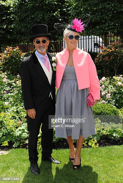 Eddie Jordan and Marie Jordan attend Day 2 of Royal Ascot at Ascot Racecourse on June 18 2014 in Ascot England