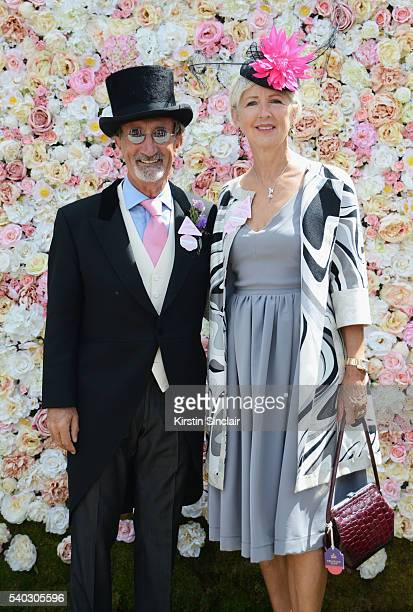 Eddie Jordan and Marie Jordan attend day 2 of Royal Ascot at Ascot Racecourse on June 15 2016 in Ascot England