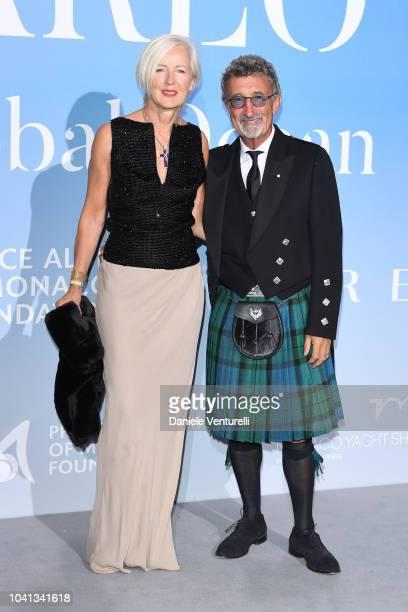 Eddie Jordan and Marie Jordan attend the Gala for the Global Ocean hosted by HSH Prince Albert II of Monaco at Opera of MonteCarlo on September 26...