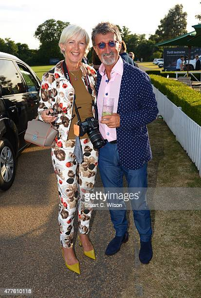 Eddie Jordan and Marie Jordan attend the Laureus Polo Cup at Ham Polo Club on June 18 2015 in Richmond upon Thames England