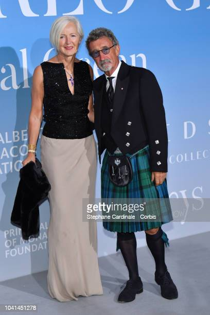 Eddie Jordan and Marie Jordan attend the MonteCarlo Gala for the Global Ocean 2018 on September 26 2018 in MonteCarlo Monaco