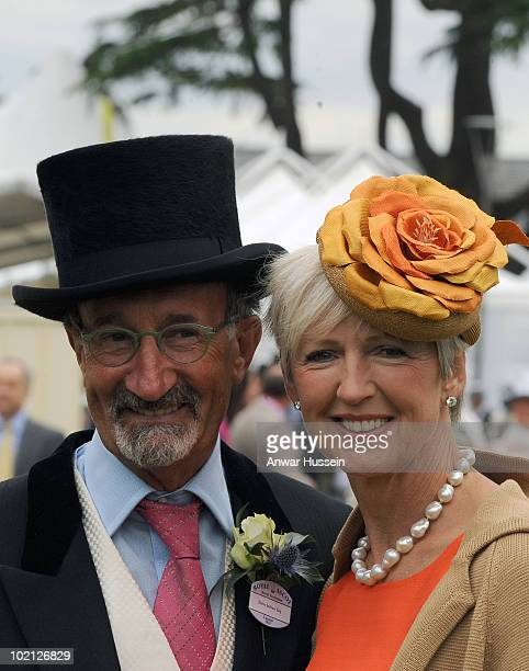Eddie Jordan and wife Marie arrive on the first day of Royal Ascot on June 15 2010 in Ascot England