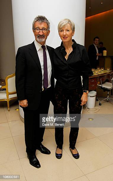 Eddie Jordan and wife Marie attend Burns Night 2011 in aid of Clic Sargent at St Martins Lane Hotel on January 25 2011 in London England