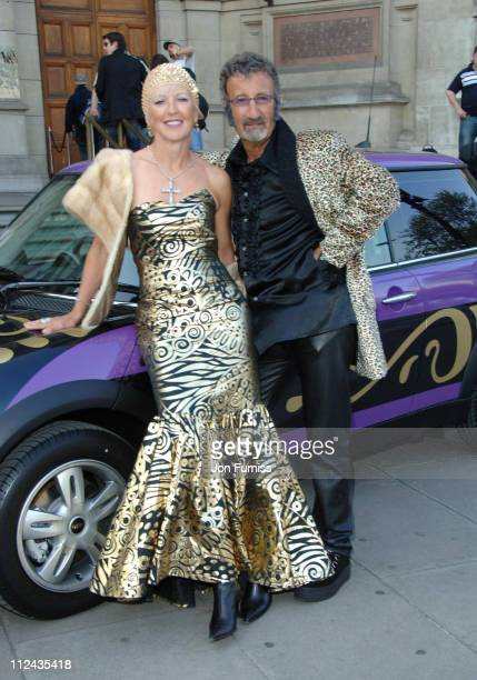 Eddie Jordan and wife Marie Jordan during The Biba Ball After Party Inside at Victoria Albert Museum in London Great Britain