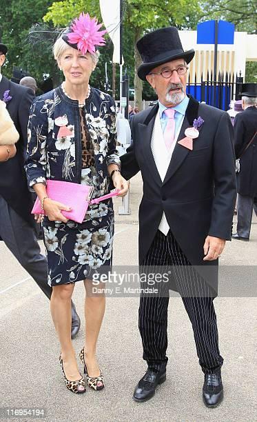 Eddie Jordan and wife Marie Jordan pose during day five of Royal Ascot at Ascot Racecourse on June 18 2011 in Ascot United Kingdom