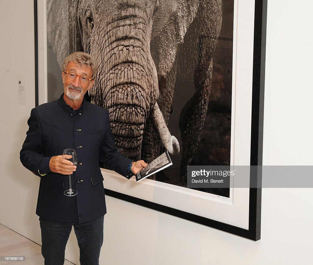 Eddie Jordan attends the private view of ENCOUNTER the stunning wildlife photography of David Yarrow at Saatchi Gallery on November 13, 2013 in London, England.