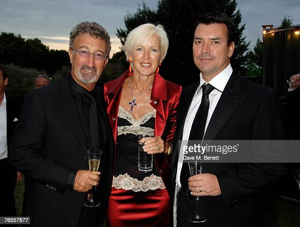 Eddie Jordan Marie Jordan and Nick Cowell attend the Royal Parks Foundation Summer Party hosted by CandyCandy at the Serpentine Lido on September 6...