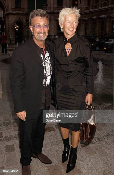 Eddie Jordan With Wife Marie The Royal Academy Exhibits Andrew Lloyd Webber's Collection And Also His Commission To Ronnie Wood's To Paint Ôthe Crowd...