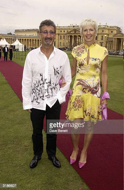 Eddie Jordsan and wife Marie Jordan attend La Dolce Vita Gala in aid of the charities Cancerbacup and Cantor Fitzgeralds Relief Fund at Stowe School...