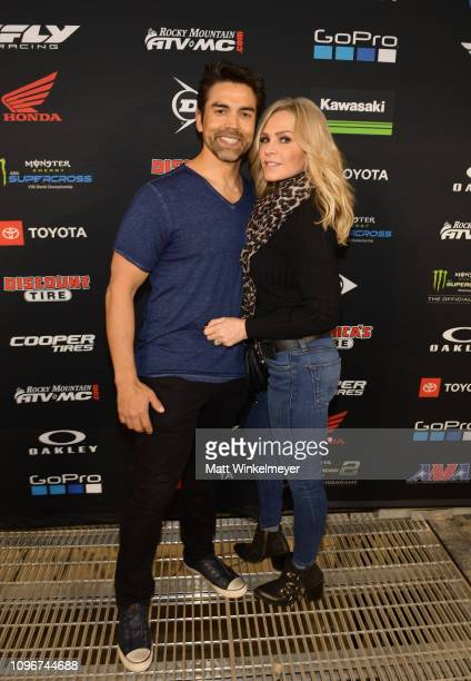 Eddie Judge and Tamra Judge attend Monster Energy Supercross Celebrity Night at Angel Stadium on January 19 2019 in Anaheim California