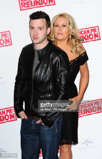 Eddie Kaye Thomas and Jennifer Coolidge during a photocall to promote their new film American PieReunion