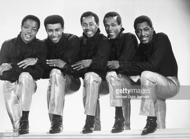 Eddie Kendricks Paul Williams Melvin Franklin David Ruffin and Otis Williams of the RB group The Temptations pose for a portrait in 1965 in New York...