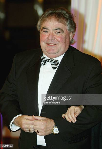 Eddie Large arrives at the Bob Monkhouse A BAFTA Tribute in honour of the late comedian at BBC Television Centre on March 9 2004 in London Bob...