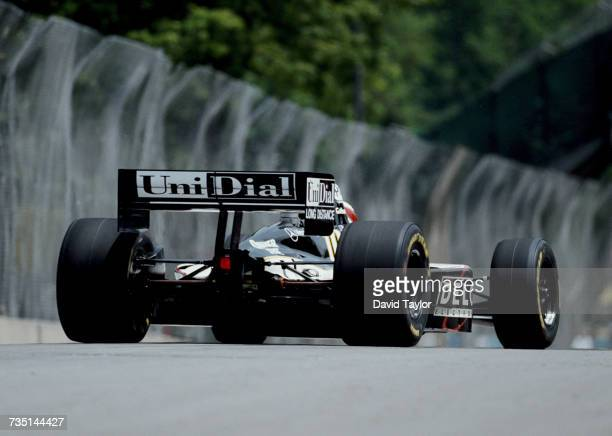 Eddie Lawson of the United States, former four-time Grand Prix motorcycle racing World Champion drives the Galles Racing Lola T96/00 Mercedes IC...