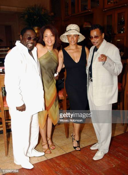 Eddie Levert and Morris Day wirth their Wives during 3rd Annual Luncheon Celebrating The King Global Foundation Support of Educators in the Bahamas...