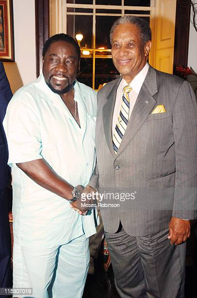 Eddie Levert singer and Sir Orville Turnquest Former Governor General of the Commonwealth of Bahamas