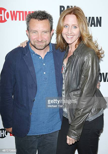 Eddie Marsan and Brooke Smith arrive at Showtime's Ray Donovan special screening and panel discussion held at Leonard H Goldenson Theatre on April 28...