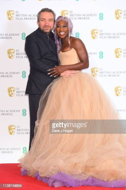 Eddie Marsan and Cynthia Erivo in the press room during the EE British Academy Film Awards at Royal Albert Hall on February 10 2019 in London England