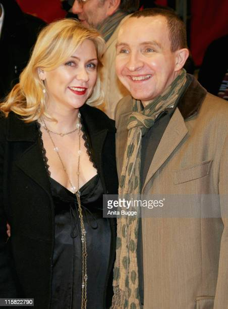 Eddie Marsan and guest attends the Happy Go Lucky premiere during day six of the 58th Berlinale International Film Festival held at the Berlinale...