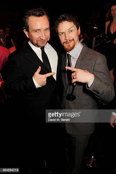 Eddie Marsan and James McAvoy attend an after party following the Moet British Independent Film Awards 2013 at Old Billingsgate Market on December 8...