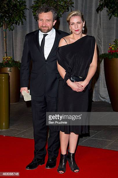 Eddie Marsan and Janine Schneider attend the after party for the EE British Academy Film Awards at The Grosvenor House Hotel on February 8 2015 in...