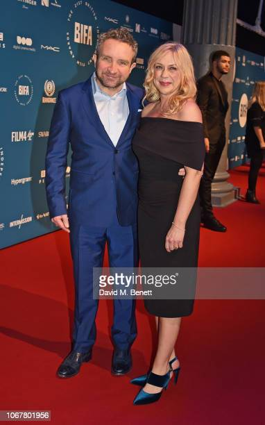 Eddie Marsan and Janine SchneiderMarsan attend the 21st British Independent Film Awards at Old Billingsgate on December 2 2018 in London England