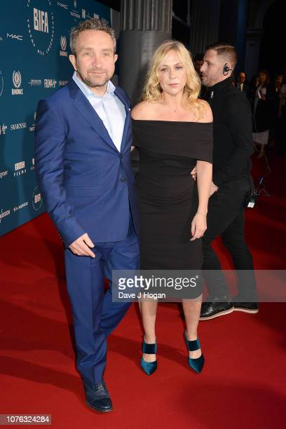 Eddie Marsan and Janine SchneiderMarsan attend the 21st British Independent Film Awards at Old Billingsgate on December 02 2018 in London England