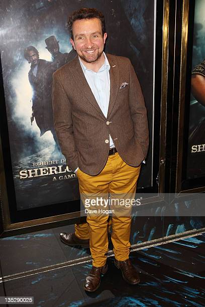 Eddie Marsan attends the European premiere of Sherlock Holmes A Game Of Shadows at The Empire Leicester Square on December 8 2011 in London United...
