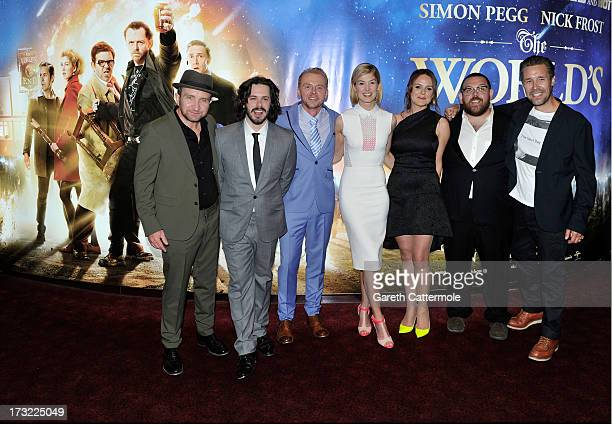Eddie Marsan Director Edgar Wright Simon Pegg Rosamund Pike Producer Nira Park Nick Frost and Paddy Considine attend the World Premiere of The...