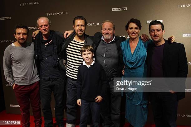 Eddie Marsan Ned Dennehy Paddy Considine Samuel Bottomley Peter Mullan Olivia Colman and Paul Popplewell attend the London premiere of 'Tyrannosaur'...