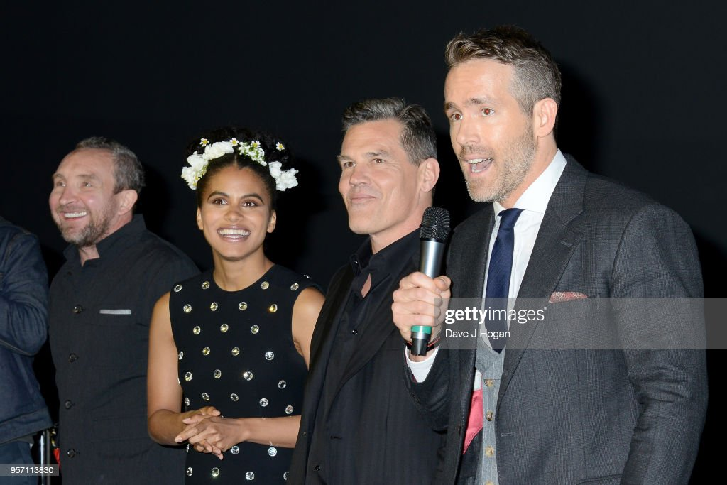 Eddie Marsan, Zazie Beetz, Josh Brolin and Ryan Reynolds attend the 'Deadpool 2' fan screening at Cineworld Leicester Square on May 10, 2018 in London, England.