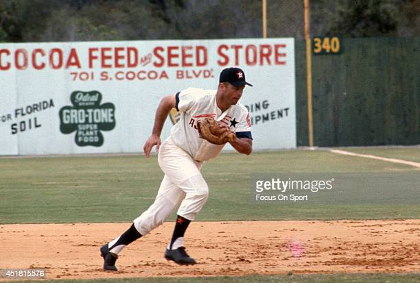 Eddie Mathews of the Houston Astros in action during an Major League Baseball spring training circa 1967 Mathews played for the Astros in 1967