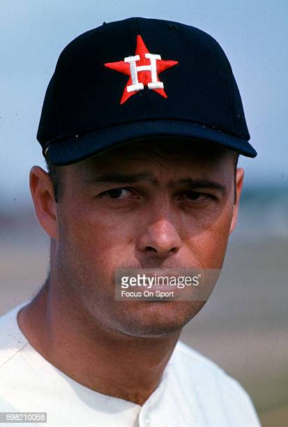 Eddie Mathews of the Houston Astros poses for this photo during Major League Baseball spring training circa 1967 in Cocoa Florida Mathews played for...