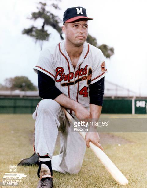 Eddie Mathews of the Milwaukee Braves poses for a portrait Eddie Mathews played for the Milwaukee Braves from 19531965