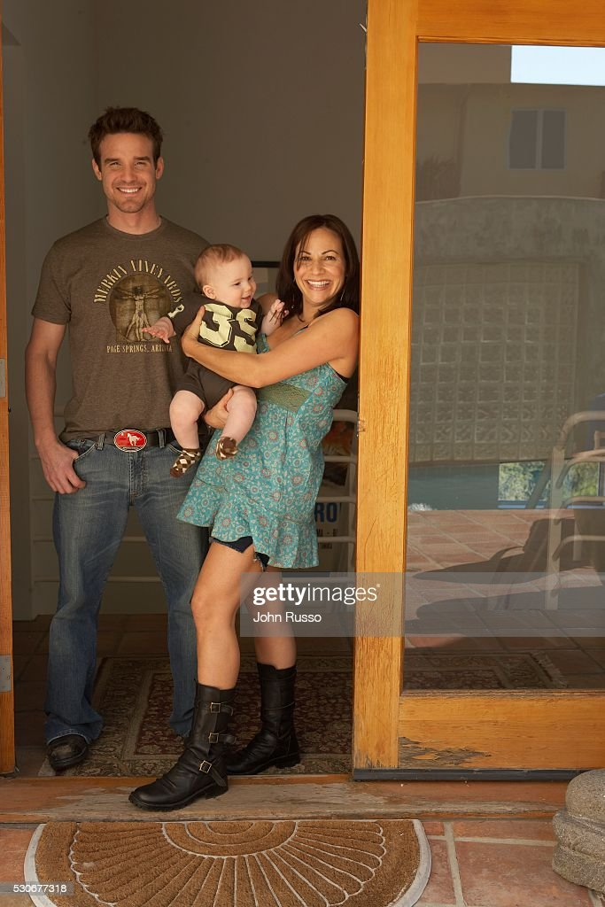 Eddie Mcclintock At Home With Wife Lynn Sanchez And Son News Photo