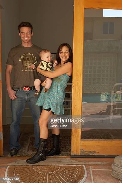 Eddie McClintock at Home with Wife Lynn Sanchez and Son