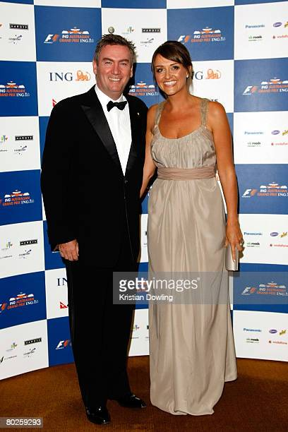 Eddie McGuire and Carla McGuire arrive for the official Grand Prix ball in the Palladium Ballroom on March 14 2008 in Melbourne Australia