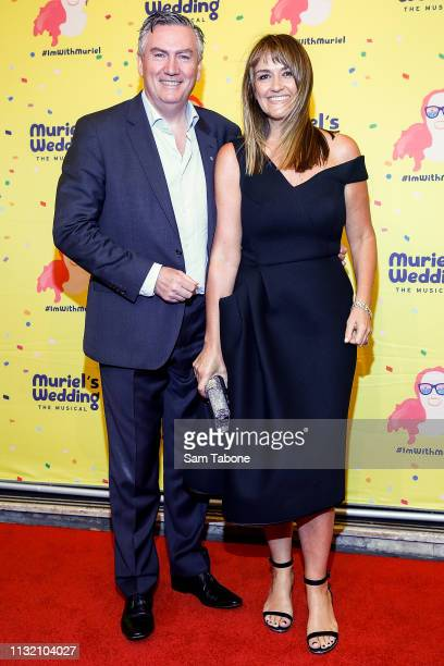 Eddie Mcguire and Carla Mcguire attends Muriel's Wedding The Musical at Her Majesty's Theatre on March 23 2019 in Melbourne Australia