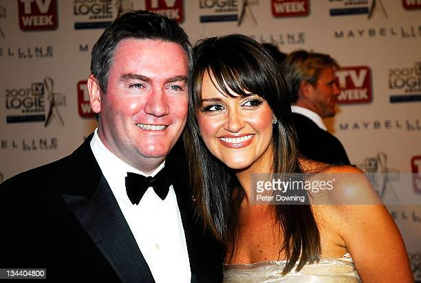 Eddie McGuire and Carla McGuire during 2007 TV Week Logie Awards Arrivals at Crown Casino in Sydney NSW Australia