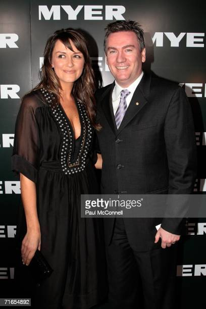 Eddie McGuire and his wife Carla arrive at the Myer Spring/Summer Fashion Show 2006 at the Royal Hall of Industries on August 16 2006 in Sydney...
