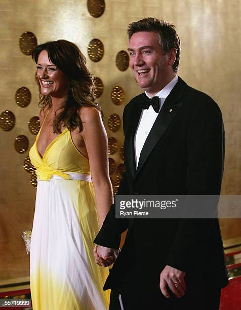 Eddie McGuire and his wife Carla arrive for the Brownlow Medal Dinner at the Crown Casino on September 19 2005 in Melbourne Australia
