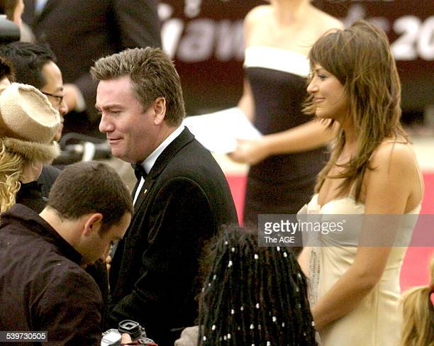 EDDIE MCGUIRE Eddie McGuire and his wife Carla McGuire arrive at the 2005 AFI Awards at Melbourne Docklands 28 November 2005 THE AGE Picture by WAYNE...