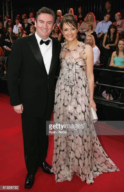 Eddie McGuire and wife Carla arrive for the Brownlow Medal Dinner at the Crown Casino on September 20 2004 in Melbourne Australia