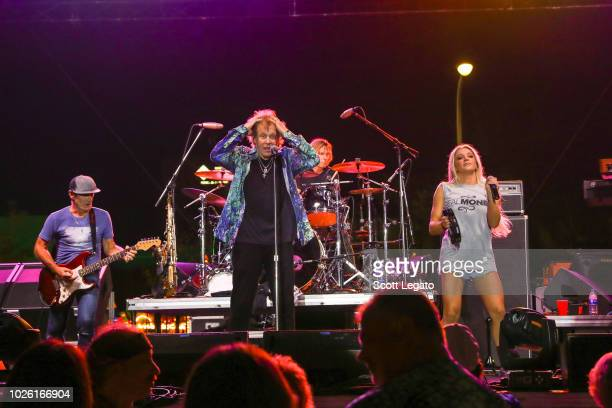 Eddie Money and daughter Jesse Money perform at Arts, Beats and Eats Fesival on September 1, 2018 in Royal Oak, Michigan.
