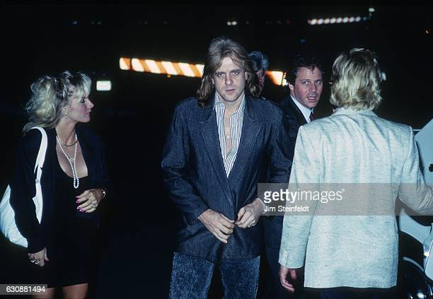 Eddie Money arrives at Rupert's Nightclub in Minneapoils Minnesota on June 20 1989